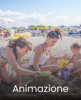 Animazione per bambini in spiaggia al mare